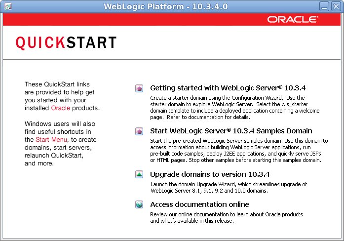 Oracle Fussion Middleware: Oracle WebLogic Server installation